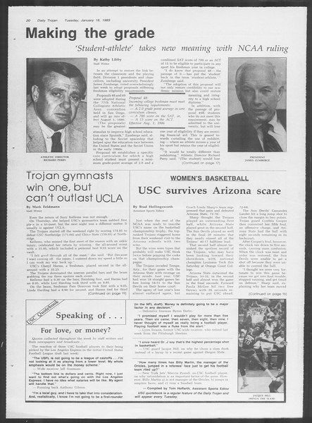 Daily Trojan, Vol. 93, No. 6, January 18, 1983