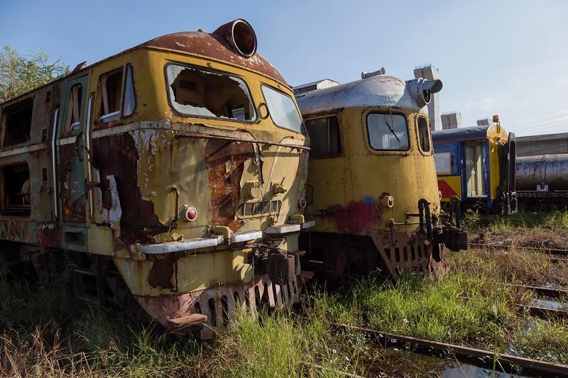 at the train graveyard, Bang Sue District, Bangkok