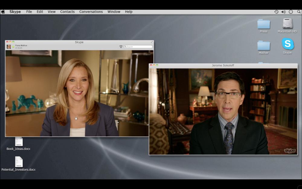 . Lisa Kudrow as Fiona Wallice and Dan Bucatinsky as Jerome Sokoloff in Web Therapy (Season 3, Episode 02) - Photo: Courtesy of SHOWTIME