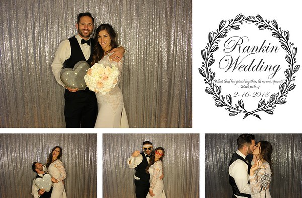 Alexis & Stephen Wedding - 2.16.18 - Photo Strips
