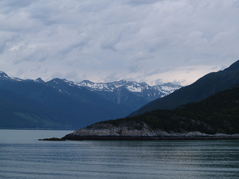 Turning the corner out of Taiya Inlet toward Haines around 5:30am (2006).