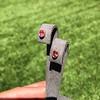 .79ctw Oval Padparadscha Sapphire Bezel Stud Earrings 16