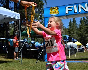 Donner Lake Tri Kids Finish
