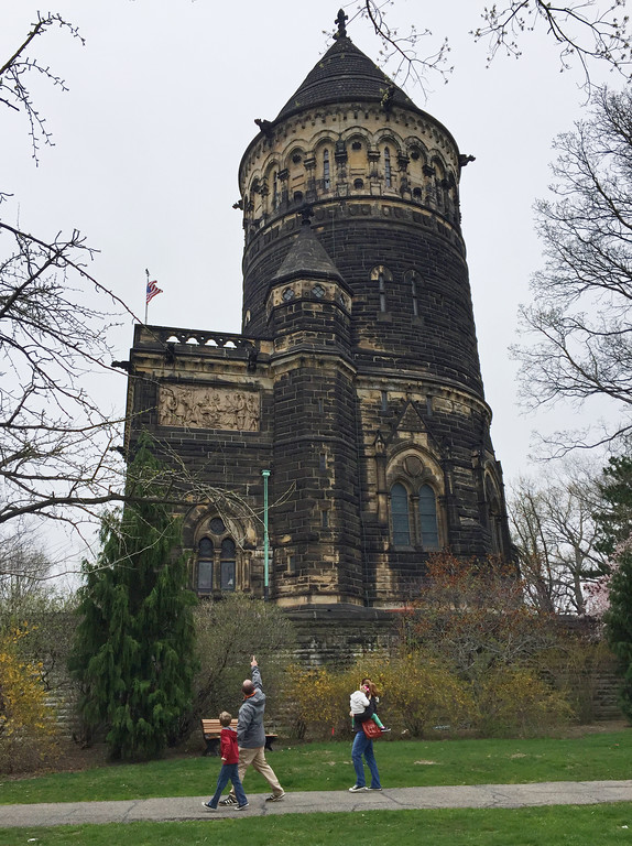 . The exterior of the James A. Garfield Memorial is shown at Lake View Cemetery in Cleveland. Lolly the Trolley Tours will be offered at Lake View Cemetery at 1 p.m. Sundays through Oct. 28 (Sept. 30 and Oct. 14 excluded). For more information, visit lakeviewcemetery.com.  (Associated Press file)