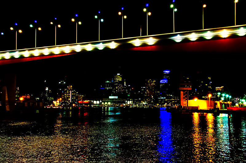 Melbourne city as seen from under Bolte bridge