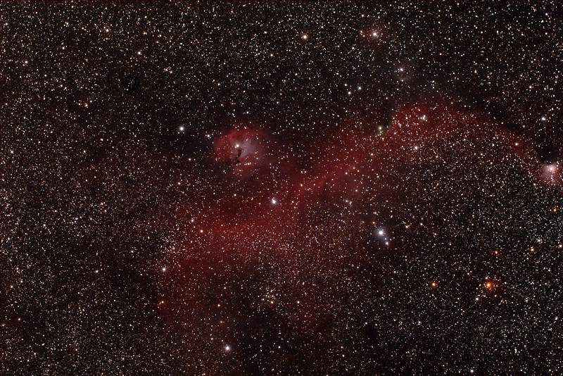 IC2177 - Gum 1&2 - Seagull Nebula with Gum 3 - 4/1/2014 (Processed Stack)