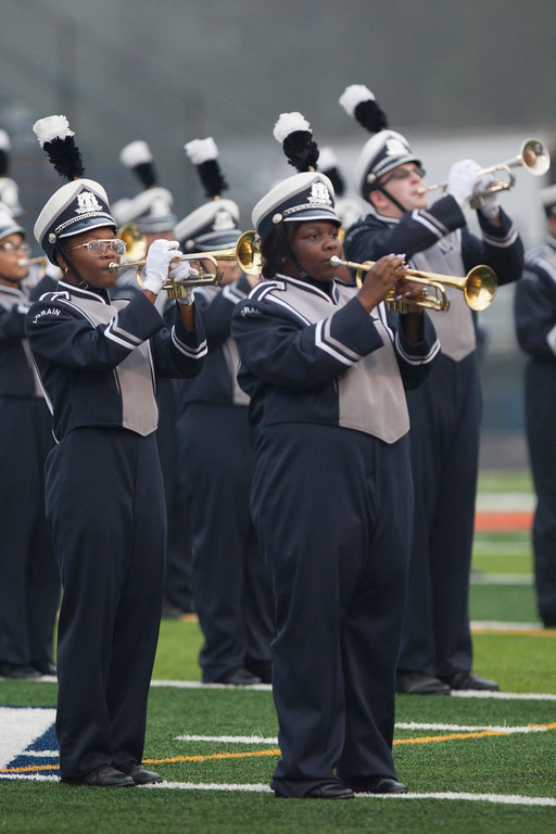 . Jen Forbus - The Morning Journal<br> The Lorain High School band performs the pre-game show on Sept. 14.