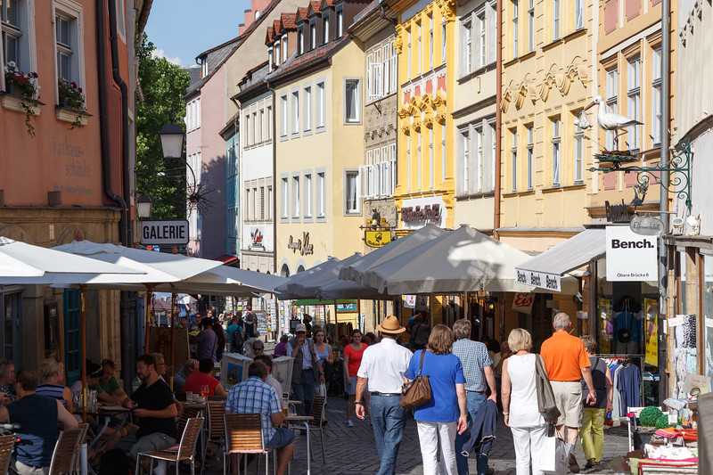 Strolling along a street in Bamberg, Germany