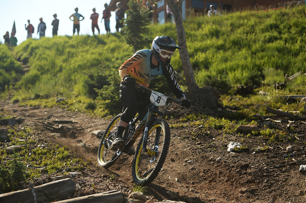 . WINTER PARK, CO. - July 26: Joe Barnes is competing during the first stage of First international Enduro World Cup Championship ever in U.S. at Winter Park, Colorado. July 26, 2013.  (Photo By Hyoung Chang/The Denver Post)