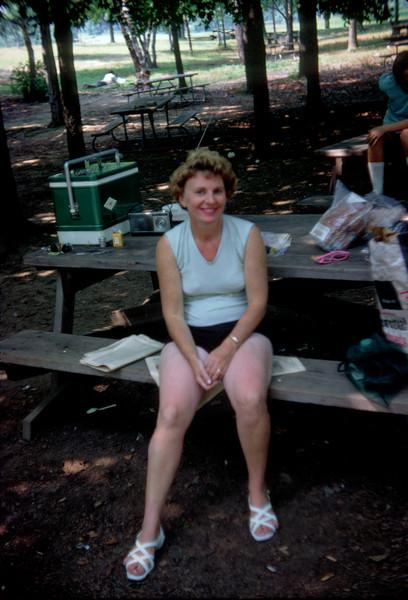 mommy on picnic bench.jpg