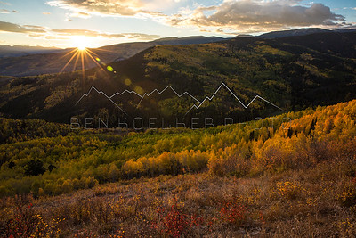 Fall Colors at sunrise from Stag Gulch, CO