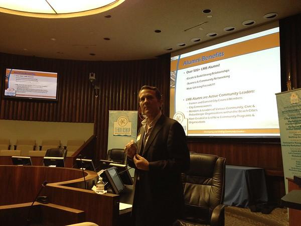 2013 LMB - Info Night - City Council Chambers