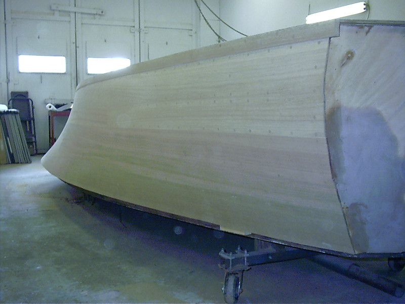 Rear starboard view of sanded side.