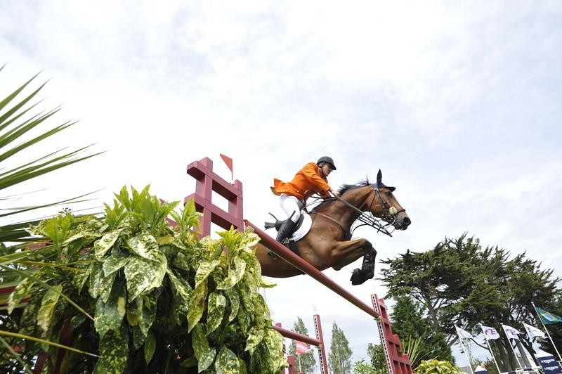JUMPING : ALBERT ZOER SUR SAM COUPE DES NATIONS 2012 -  CSIO DE LA BAULE 2012 - PHOTO : © CHRISTOPHE BRICOT