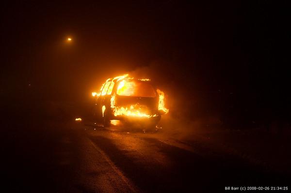 Vehicle Fire, Hazleton City 2/26/08
