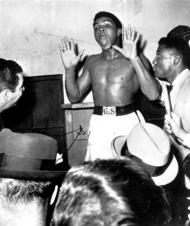 . MUHAMMAD ALI, 1963.  Denver Post Library photo archive