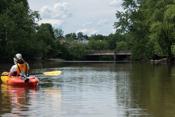 2012-06-24 Passaic River at Eagle Rock Ave Heading North