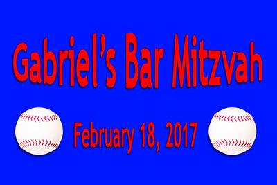 2017-02-18 Gabriel's Bar Mitzvah
