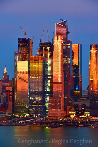 NYC Sundown Bronzed Hudson Yards