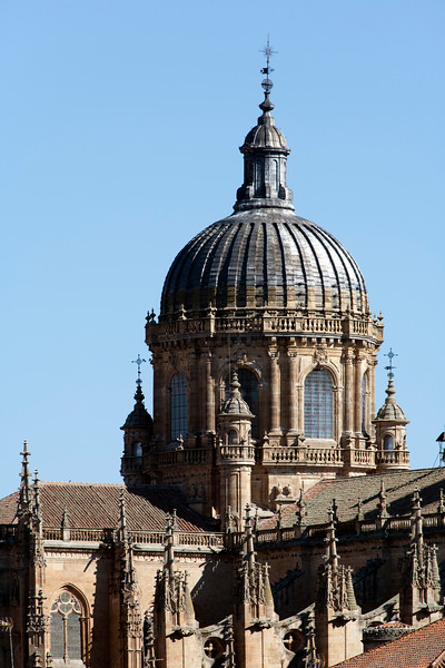 New Cathedral dome, town of Salamanca, autonomous community of Castilla and Leon, Spain