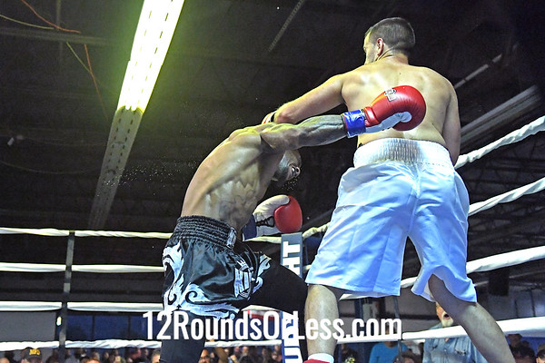 Bout #10: Ammy Boxing, Abhay Horvath, Red Wrist Wraps, 162 Lbs -vs- Leon Fowkles, Blue Wrist Wraps, 155 Lbs