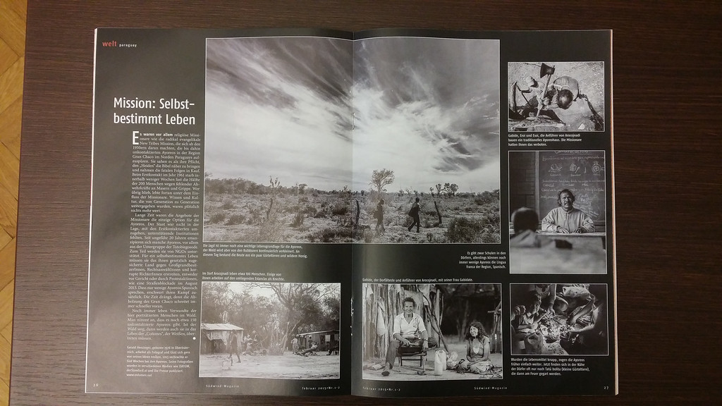"2015-01: The ""Südwind Magazin"" publishes a feature about the Ayoreo tribe"