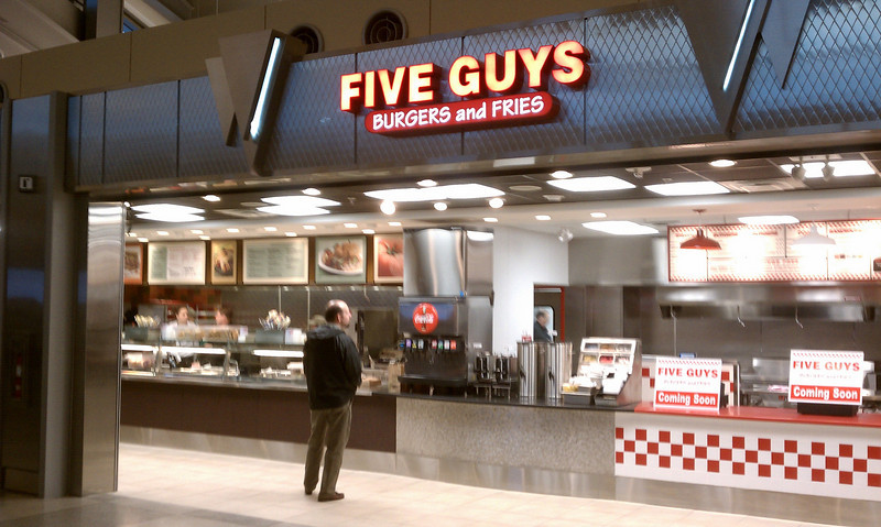new five guys at rdu