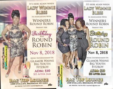 "LADY WINNIE BLESS ""BIRTHDAY / WINNERS ROUND ROBIN""(15)"