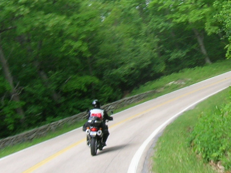 smf on Skyline Drive.  I recall a distinct urge to drop the camera and grab the bar on this RH turn.