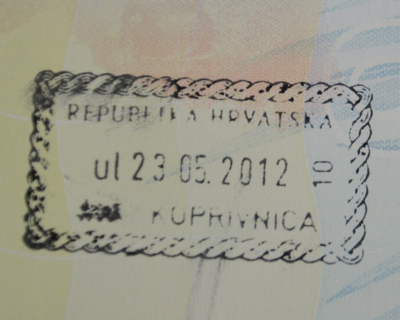 Croatia passport stamp