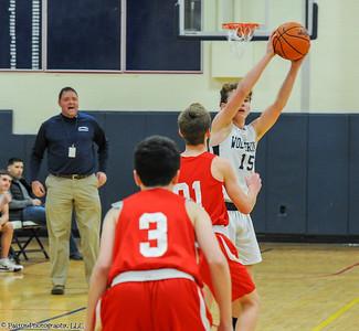 8th grade boys basketball action