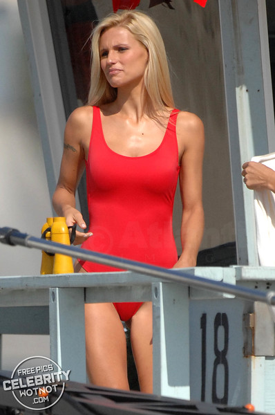 EXCLUSIVE: Michelle Hunziker Is a Baywatch Babe In Iconic Red Swimsuit Shoot!