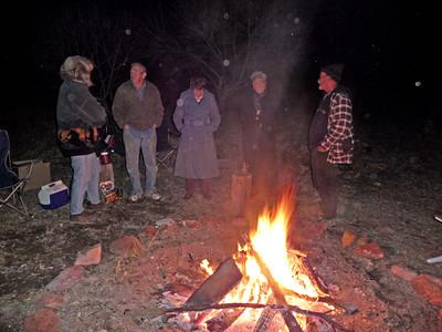 2009 bonfire at Tom's