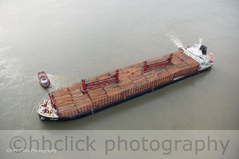 MV Lintan departing Port of Longview, Washington.
