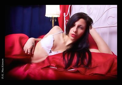 Red Satin Boudoir