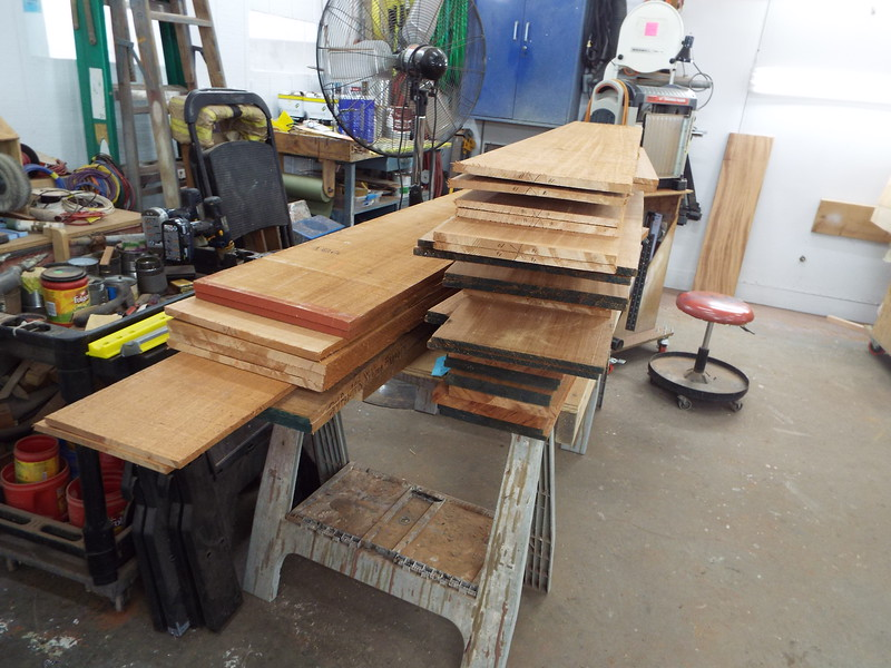Another view of the sorted Mahogany. These pieces are kept in pairs so the furniture will be book matched.