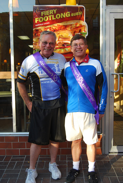 The amazing riders following their 71 mile journey. To honor their hard work, we held a petition signing event at the downtown Jefferson City Subway. Our generous sponsors, Subway, provided a free breakfast to all participants!