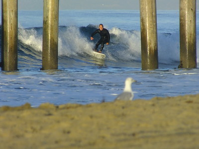 SURFING * H.B. PIER * LOCALS ONLY