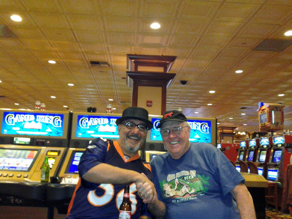 . Watching the Broncos/Ravens game with my friend from Hawaii at the casino. Chuck