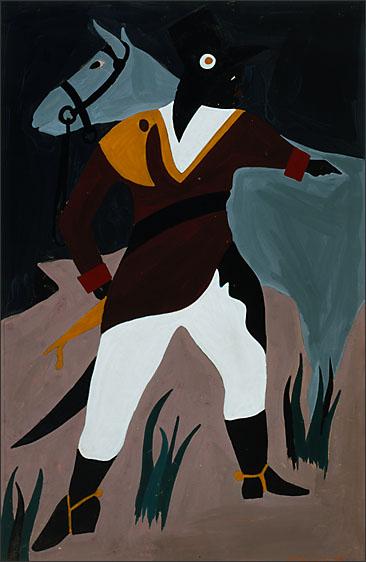 """Jacob Lawrence, """"The Life of Toussaint L'Ouverture No. 26"""" (1938)"""