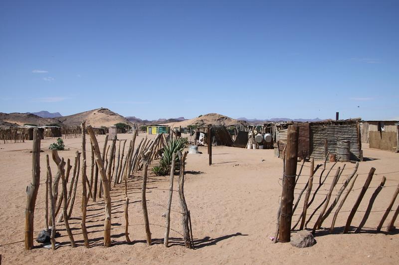 Riemvasmaker village of displaced South African tribe in Damaraland