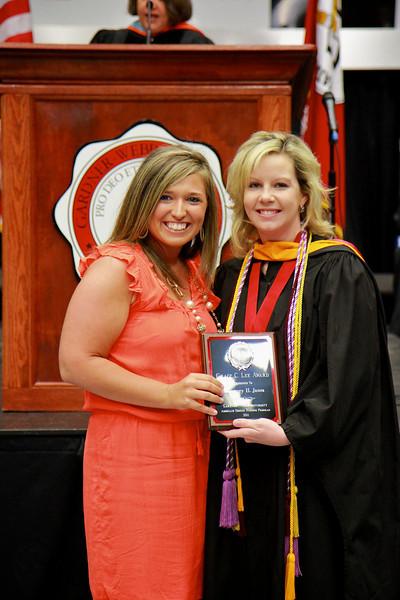 56th Annual Academic Awards Day Ceremony. Grace C. Lee Nursing Award: Courtney Heather Jones