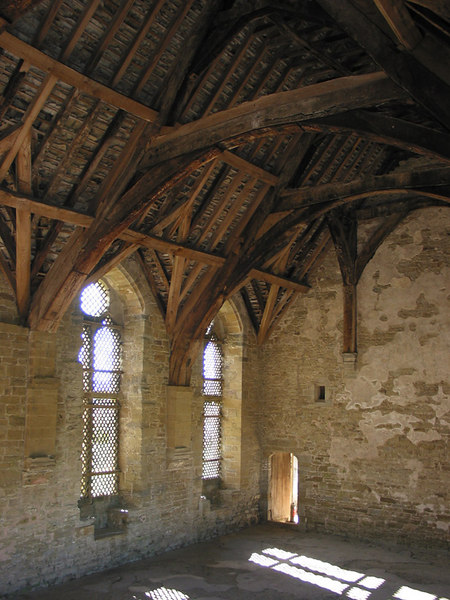 Inside Stokesay Castle.