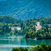 The Otok and Tito's Villa on Lake Bled, Slovenia
