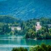 The Otok and Tito's Villa on Lake Bled, Slovenia