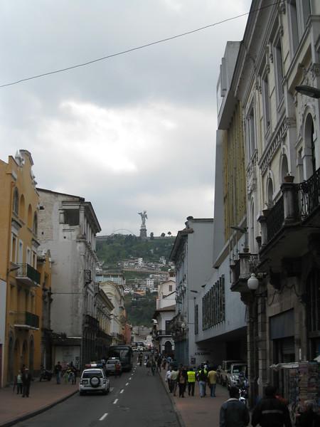 Colonial Quito, Virgin de Panecillo Monument on the hill