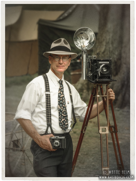 Portrait of Old Time Photographer   Photography by Wayne Heim
