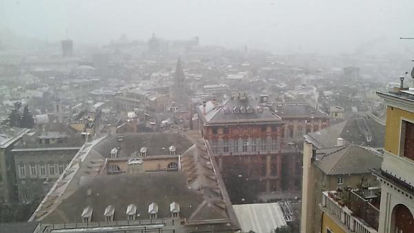 Nevicata a Genova - 31 gennaio 2012