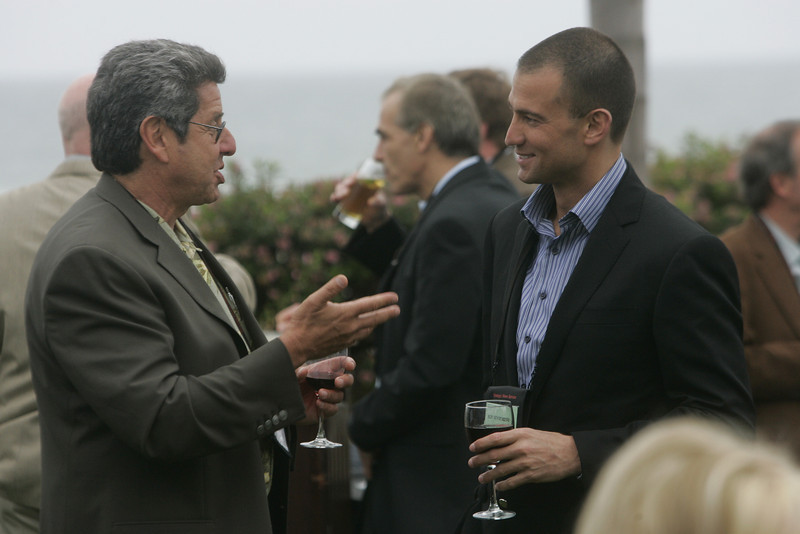 Bob Warshawer (L), president of Black Rock Cable, and Roy Schoenberg, CEO of FiReStarter company American Well Systems