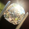 4.03ct Light Fancy Brown Antique Cushion Cut Diamond Halo Ring GIA LFB, SI1 87